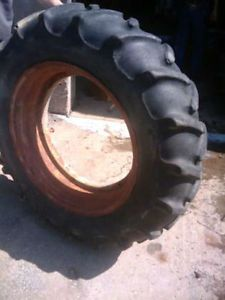 One Used 12 4x28 Uniroyal Tractor Tire w Rim Ford 2N 8N Jubilee