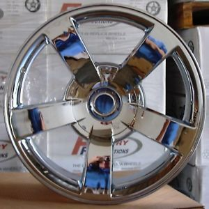 22x10 Chrome Chevy GM 1500 SS Silverado Wheels Rims Tires Set Package