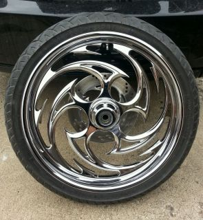 "Harley Davidson 21"" inch Chrome Front Wheel ""Predator"" 99 Model or Earlier"