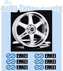 Enkei Wheel Rim Stickers Decals to Suit Mitsubishi EVO Nissan Honda JDM EDM Cars