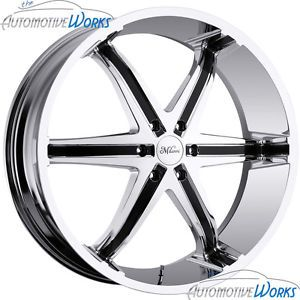 "20"" Milanni Chrome Wheels Rims inch S10 Blazer 5x120 65"