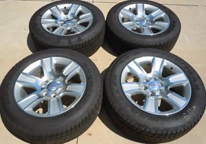 "2014 GMC Sierra 1500 20"" 20 Factory Chrome Wheels Tires P275 55R20 Yukon"