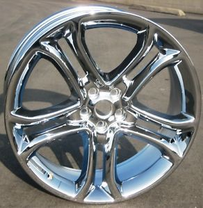 "Set of 4 New 22"" Factory Ford Edge Chrome Wheels Rims 2011 2013 3850"
