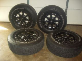 4 Used Firestone Destination Tires with Black Fuel Boost Rims 2000 Toyota Tacoma
