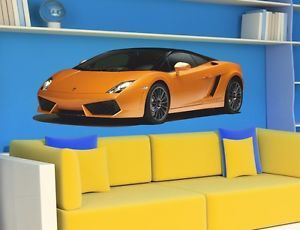 Wall Stickers Cars Sport Racing Car Lamborghini Sticker Decal Nursey Room