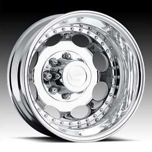19 5 inch Vision Hauler Dually Chrome Wheel Rim 8x6 5 GMC C 2500 C 3500