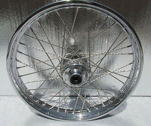 "Harley Davidson 21 inch Heritage Fatboy Softail Chrome Wheel Rims 21"" Spoke Nice"
