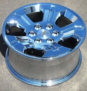 "Exchange Stock 4 2014 18"" Factory Avalanche Silverado Tahoe Chrome Rims Wheels"