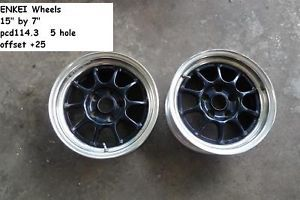 JDM Enkei Racing Wheels Rims 5HOLE 114 3 EK9 DC2 SSR