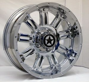 "Lonestar ""489"" Chrome Wheels 20 inch Dodge Truck RAM 1500 20"" Rims 5x5 5"