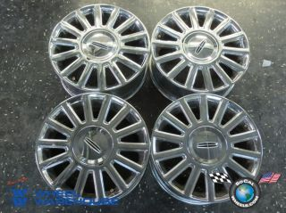 Four 03 04 Lincoln Town Car Factory 17 Chrome Wheels Rims 3504