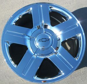 "4 20"" Factory Chevy Avalanche Silverado Tahoe Chrome Wheels Rims Exchange Stock"
