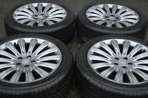 "2013 Lincoln MKS 20"" Wheels Rims Tires with Chrome Accents"