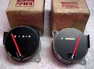 55 Ford Thunderbird T Bird Temperature Fuel Gauge