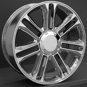 "22"" Chrome Cadillac Escalade Platinum Wheels Rims GM Tahoe Silverado Suburban"