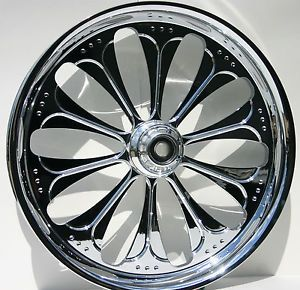 "Harley Davidson 21"" inch Custom Chrome Front Wheel from FTD Customs"