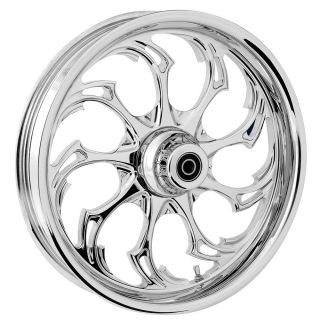 "RC Components Widow Chrome 21"" Front Wheel Pkg Harley Davidson Touring 2000 2007"