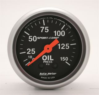 Auto Meter 3323 Sport Comp Mechanical Oil Pressure Gauge