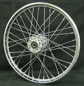"Chrome Ultima 40 Spoke 21x2 15"" Front Wheel for Harley 2000 2007 and Custom"
