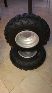 ITP Holeshot GNCC Tires Did Rolled Lipped Wheels Rims Honda Suzuki Kawasaki ATV