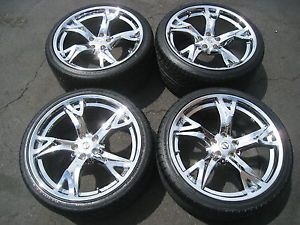 "20"" Nissan 370Z Chrome Wheels Tires Maxima Altima 350Z G35 M35 Q45 GS430 18 19"