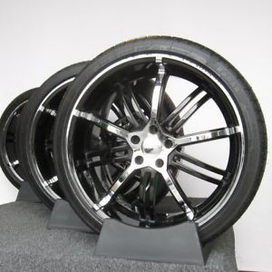 "20"" Kasino Alloy Jack Black Chrome for Lincoln LS Wheels Rims New Omni Tires"