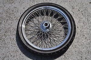 "Harley Davidson Chrome Diamond Cut 80 Spoke 21"" Wheel"
