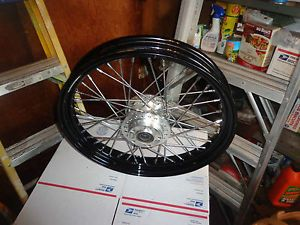 Harley Sportster 19 inch Black Chrome Dual Disc Brake Front Wheel