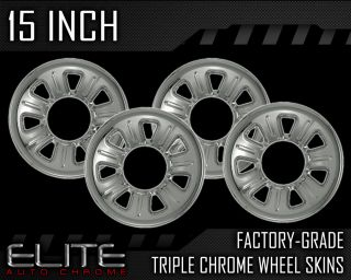 "01 11 Mazda B Series 15"" Chrome Wheel Skin Covers"