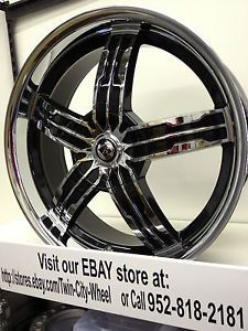 18 inch Black Ice Chrome Wheels Rims Chrysler PT Cruiser 300 Sebring 5x100 5x115