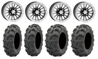 "ITP SD Dual Beadlock 14"" Wheels 27"" Mud Lite XL Tires Kawasaki Brute Force IRS"