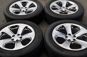 "18"" Dodge Charger Challenger Chrome Wheels Rims Tires 2011 2012 2013 2407"