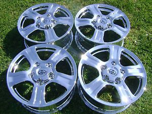 "4 18"" New Toyota Tundra Sequoia Chrome Wheels Rims"