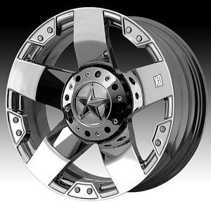 17 inch 17x9 XD Rockstar XD775 Chrome Wheels Rim 6x135 12 F150 Expedition 6 Lug