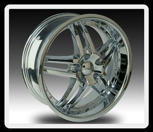 "20"" U2 95s A 5x100 5 5 Grand Vitara XL 7 Luxury PT Cruiser Chrome Wheels Rims"