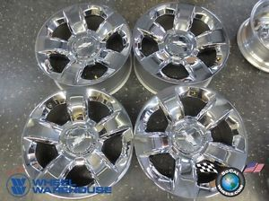2014 Chevy Tahoe Factory Chrome 20 Wheels Rims Avalanche Suburban Silverado