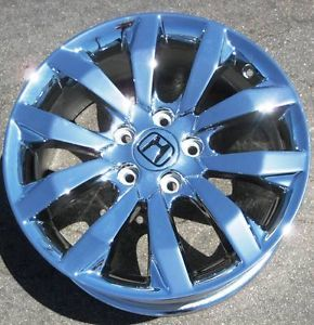 "Exchange Your Stock 4 17"" Factory Honda Civic Chrome Wheels Rims 09 12 63996"