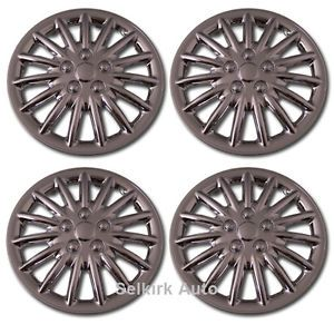 "New Replacement Aftermarket Universal 17"" inch Chrome Hub Caps Wheel Rim Covers"