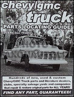 Find Chevy Pickup Truck Parts with This Book 1963 1964 1965 1966 1967 1968 1969