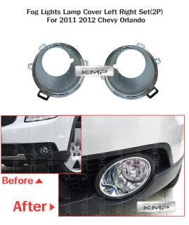 Genuine Parts Fog Light Lamp Cover 2pcs Fit Chevrolet 2011 2012 Orlando