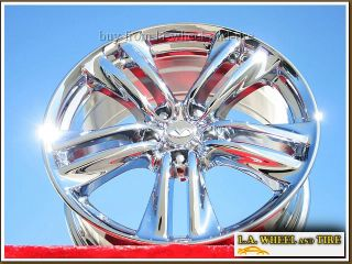 "Exchange Set of 4 New Chrome 19"" Infiniti M35 M45 Wheels Rims FX35 G37 73697"