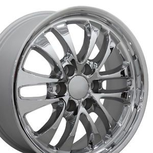 "Set 4 18x8 GMC Envoy Chrome Alloy Wheels Rims 18"" Chevy"