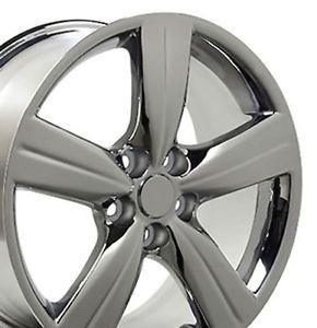 "Set 4 18x8 Lexus GS 350 Style Chrome Replica Wheels Rims 18"" Gs350"