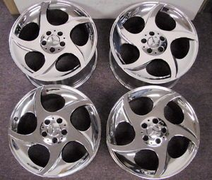 "Set of 4 Mercedes SL500 Factory 18"" Chrome Rims Wheels"