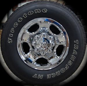 "New Dodge RAM 2500 3500 8 Lug Chrome 17"" Factory Wheels Rims Tires 2003 2013"