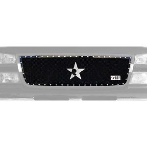 RBP RX Series Black 1pc Grille 05 06 Chevy Silverado Vehicle Truck Grille 251107