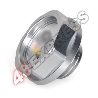 Silver Mugen Power Gas Oil Fuel Filler Fill Tank Cap Cover Plug for Honda Auto