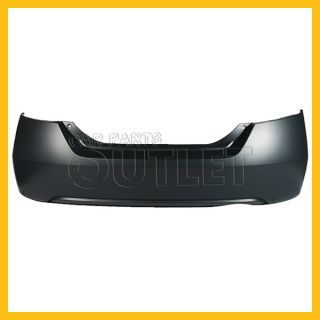 06 11 Honda Civic 2dr Rear Bumper Cover DX LX Non Primed Raw Matte Black Plastic