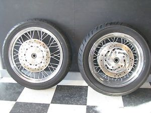 2009 Harley Davidson FXDC Super Glide Custom Wheels and Tires with Rotors