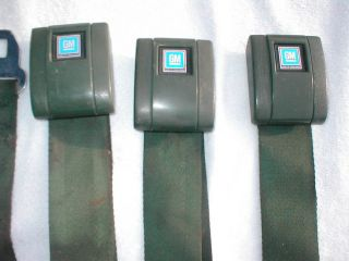 68 69 71 72 Rear Seat Belts Chevy Camaro Chevelle DK Green GTO 442 Nova 70